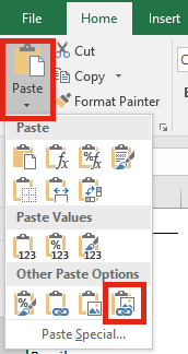 Image lookup - Paste Linked Image