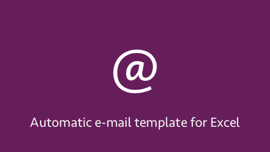 Automatic e-mail template for Excel