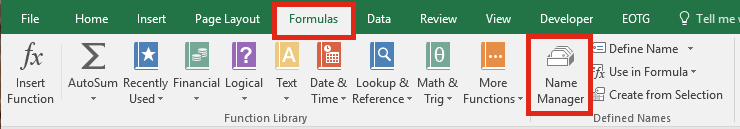 Formulas Name Manager