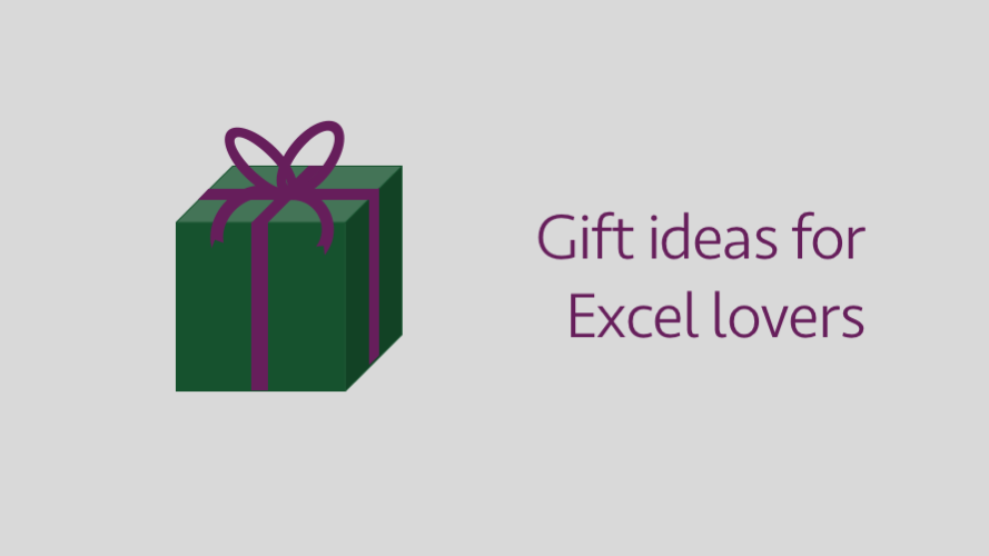 Gift ideas for Excel lovers nerds and geeks