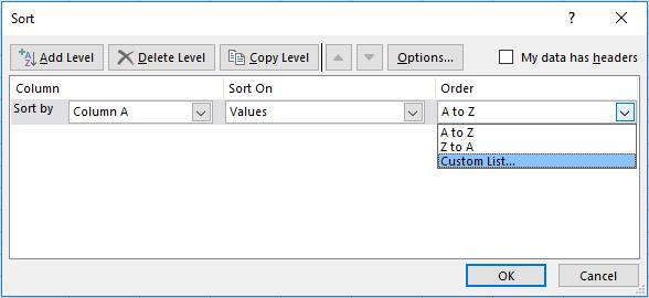 Custom Lists - Sorty By
