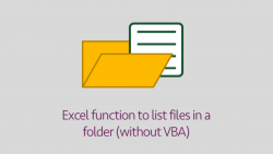 Excel FILES Function