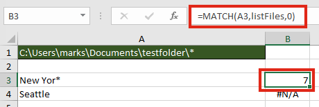 FILES with MATCH function