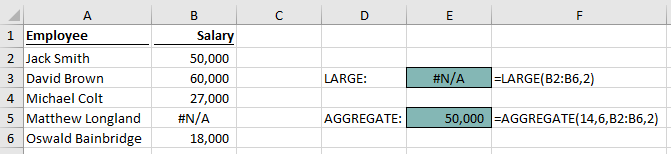 AGGREGATE - LARGE - Example 1