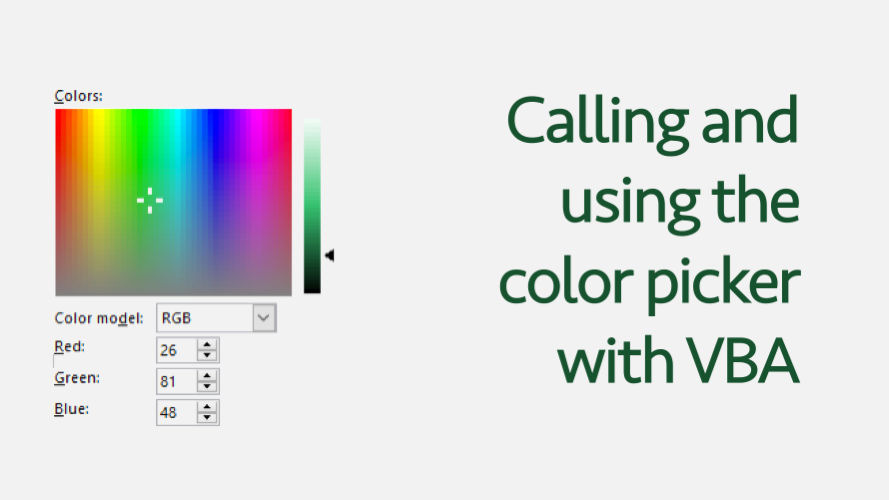 Color Picker VBA