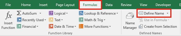 Step Chart - Formulas Define Name