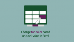 Tab color from cell