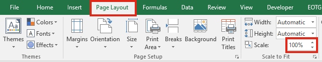 Zoom Settings - Page Setup