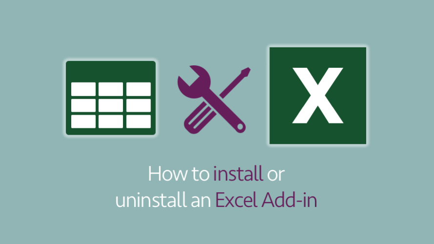 How to install or uninstall an Excel Add-in