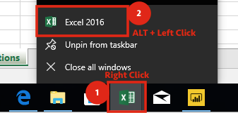 Right Click, ALT + Left Click - new instance