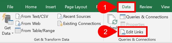 Data Edit Links
