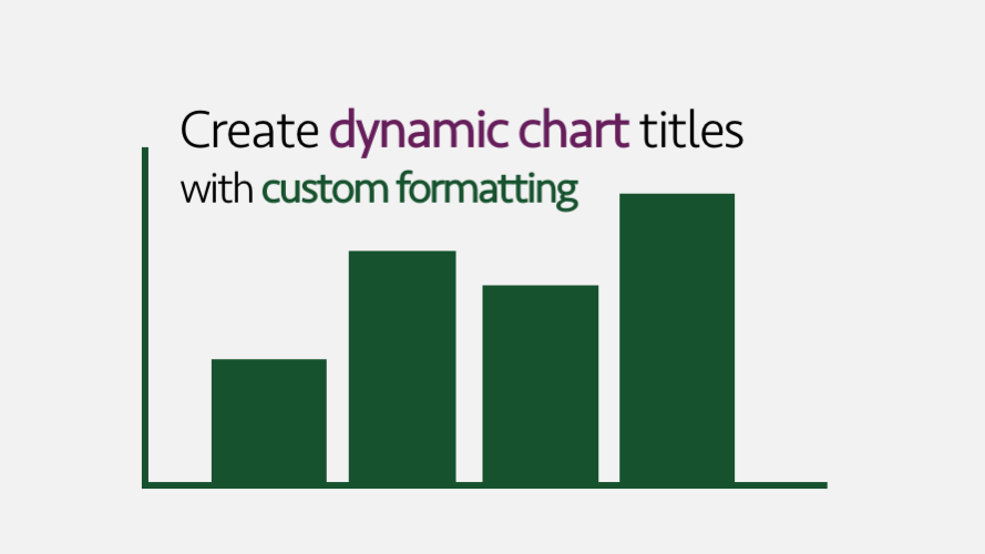 Create dynamic chart titles with custom formatting
