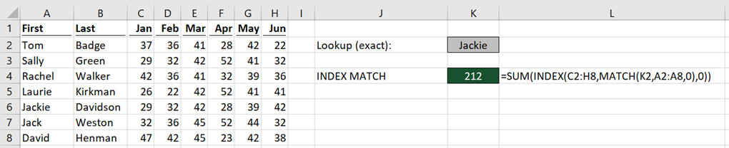 INDEX MATCH whole row