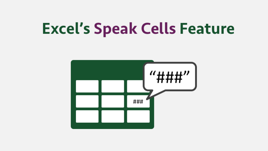 Excel's Speak Cells feature