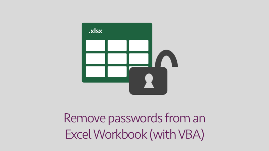 Removing / cracking Excel passwords with VBA
