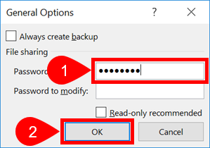 excel 2010 password to modify or open read only