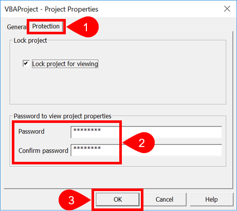 VBA Project Password Entry