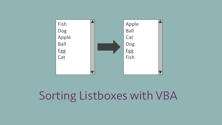 Sorting ListBoxes with VBA - Excel off the grid