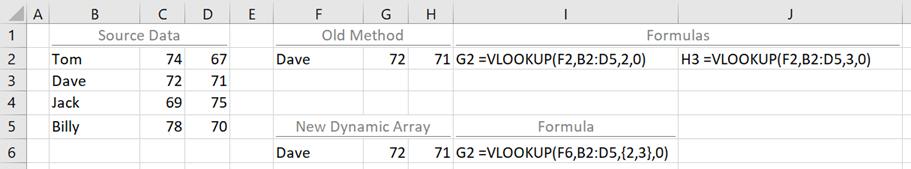 Array Constants - VLOOKUP