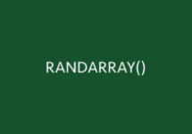 RANDARRAY Function Thumb