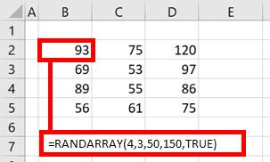 RANDARRAY - all criteria