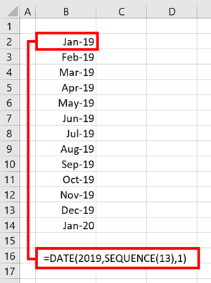 SEQUENCE function in Excel - Excel off the grid