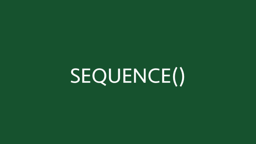 SEQUENCE function in Excel