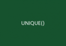 UNIQUE Function Thumb