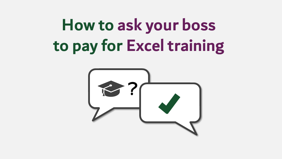 How to ask your boss to pay for Excel training