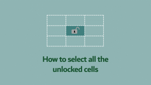 Select locked cells