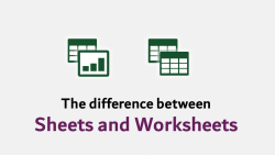 Difference Sheets and Worksheets