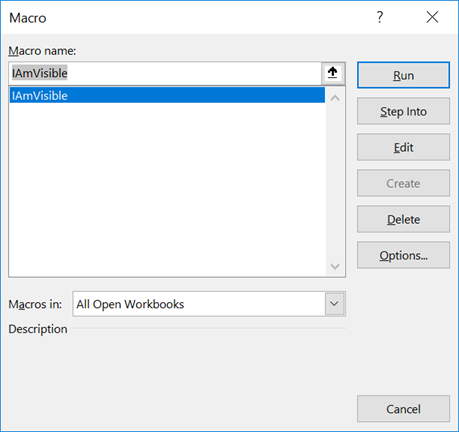 Macro Windows excludes Private Subs