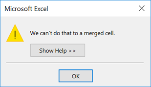 Merged Cell Error