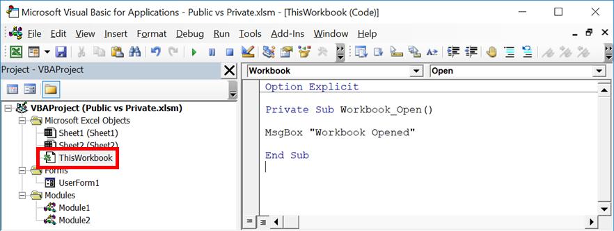 Workbook Module