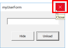 Closing VBA UserForms: Hide vs Unload - Excel off the grid