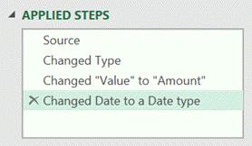 Applied steps renamed