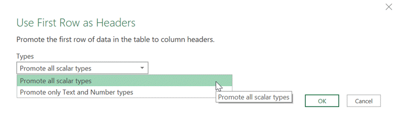 Promoted Headers Settings