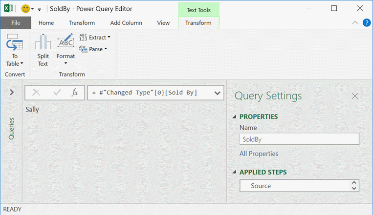 Text Tools Window Power Query