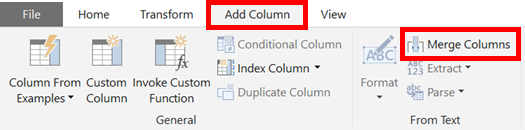 Add Column - Merge Columns