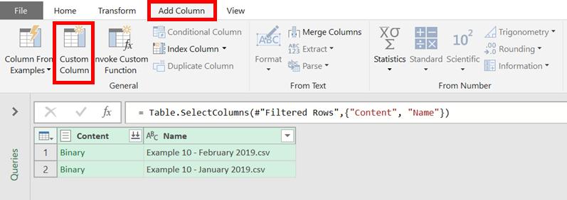Add Custom Column