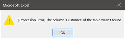 Combine file - Refresh error