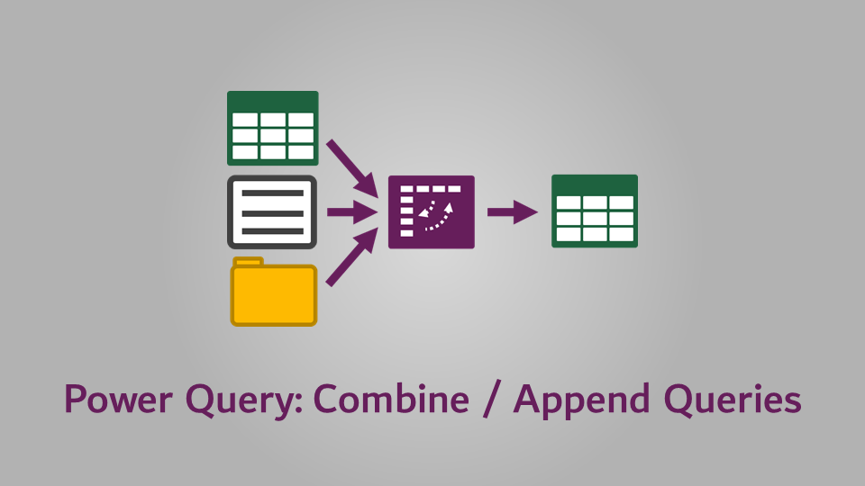 Combine or Append Queries