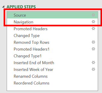 Edit the Applied Steps