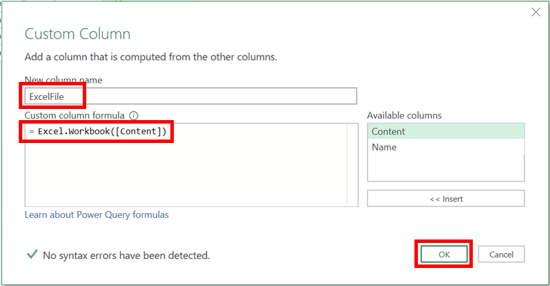 Excel File Custom Column