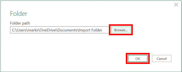 Folder Browse OK