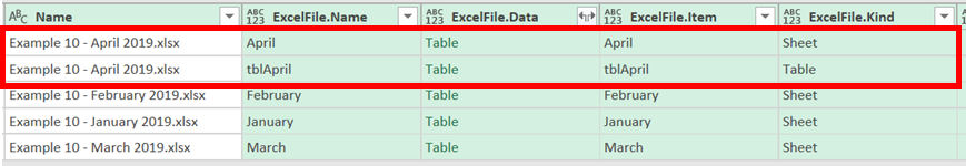 Import Sheet and Table