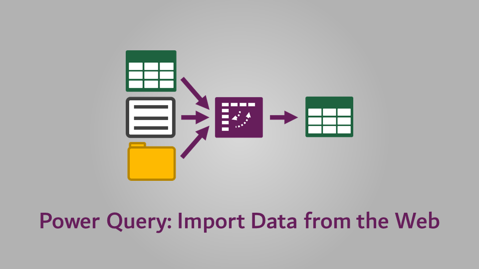 Power Query - Import Data from the Web