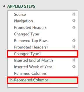 Step List - Transformations with Headers