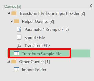 Transform Sample File