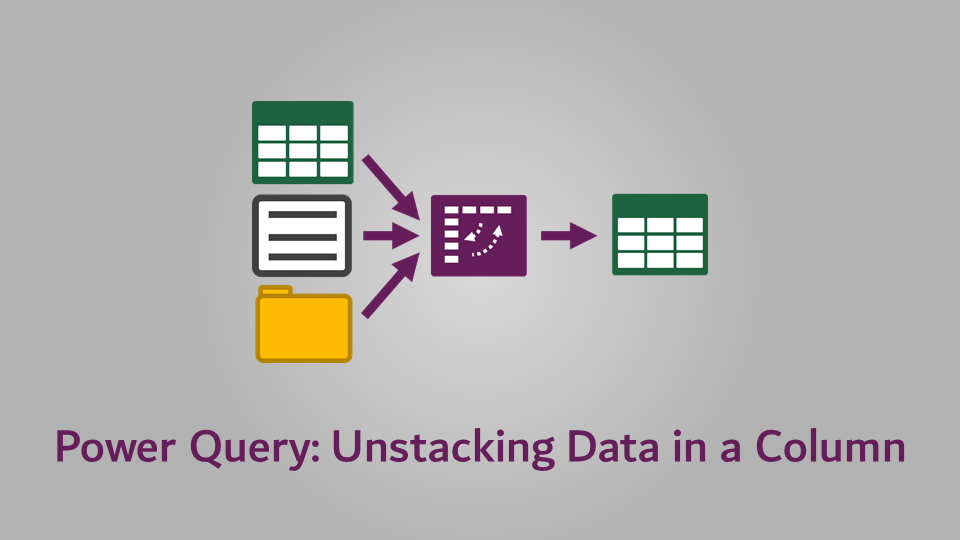 Power Query - Unstacking data in a column